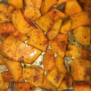 Squash right before going inside the oven